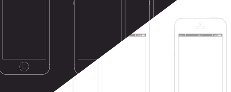 iPhone Wireframe Template Sketch