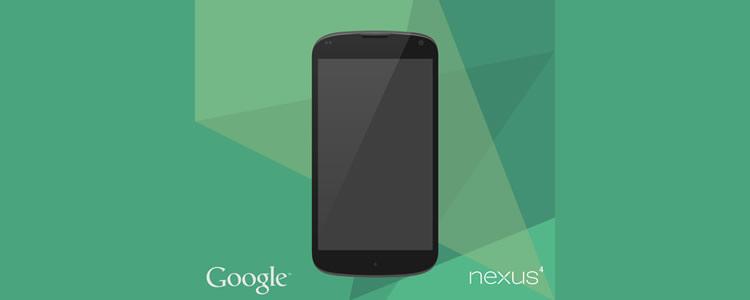 Google Nexus 4 Vector Mock-Up AI