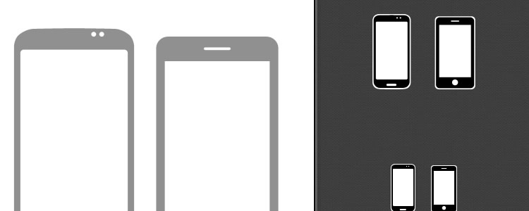 Vector Minimal iPhone & Android Icons PSD
