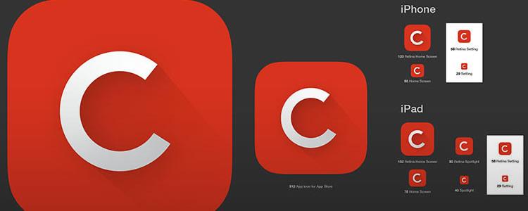 iOS 7 App Icon Template AI
