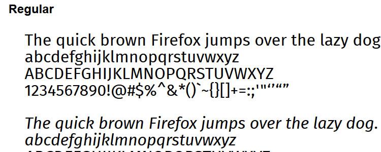 Fira +Web Font