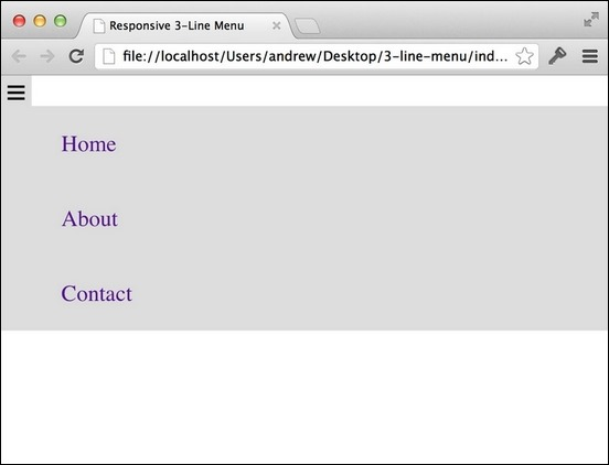 How to Build A Three Line Drop Down Menu for a Responsive Website in jQuery