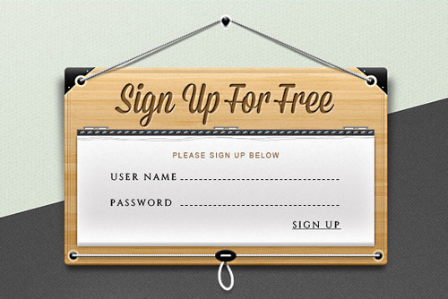 Sign Up Form PSD Template
