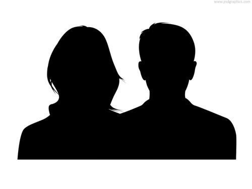 Couple Silhouette Male And Female (PSD)