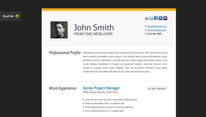 20 Creative Resume Website Templates To Improve Your Online