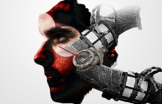 3 effect1 550x354 The Creation of Mechanical Man Photo Manipulation in Photoshop
