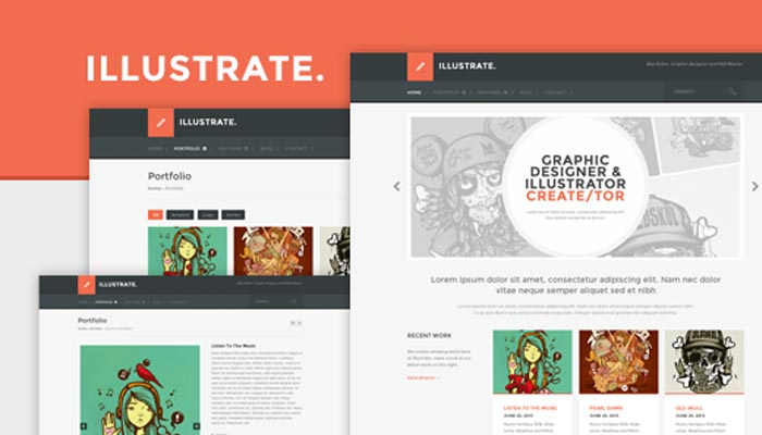Illustrate Responsive Portfolio Blog Theme