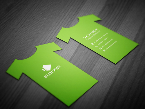 35 stylish business cards design for inspiration idevie t shirt business card colourmoves
