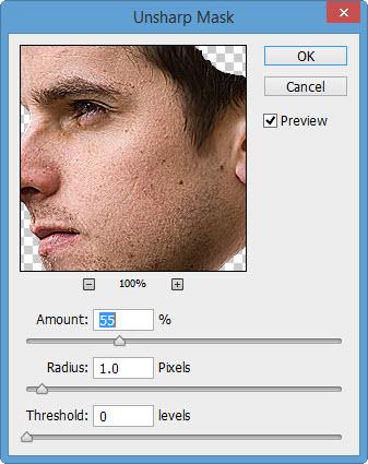 1 unsharp The Creation of Mechanical Man Photo Manipulation in Photoshop