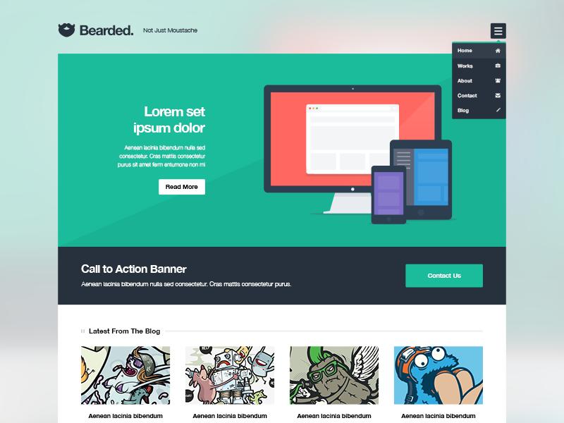 10 Beautiful & Free Website PSD Templates