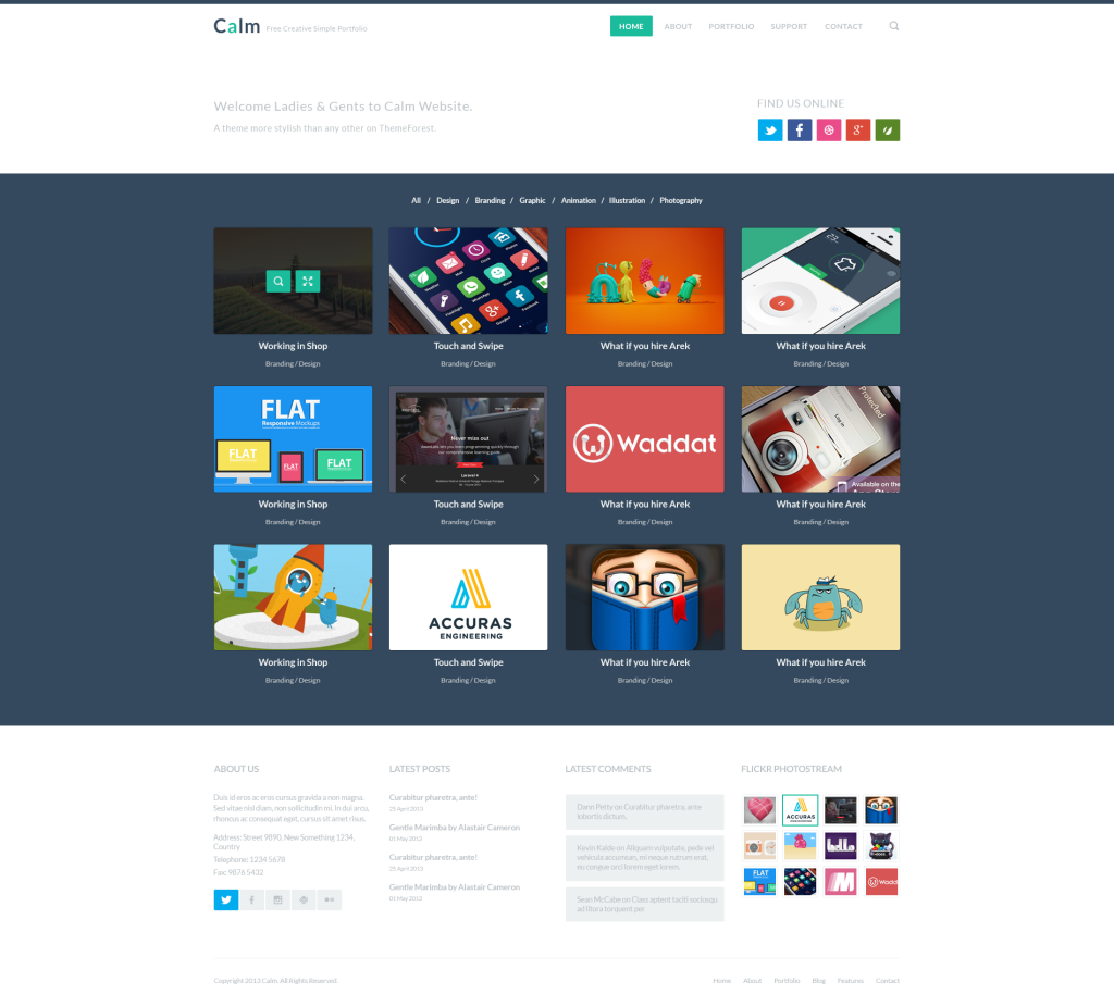 10 Beautiful & Free Website PSD Templates