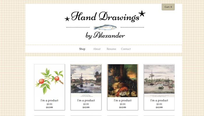 drawings Portfolio Website Templates for Artists