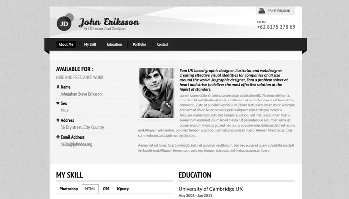 resume websites examples resume website examples sample resume