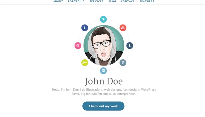 AWSM Simple Personal Portfolio WordPress Theme