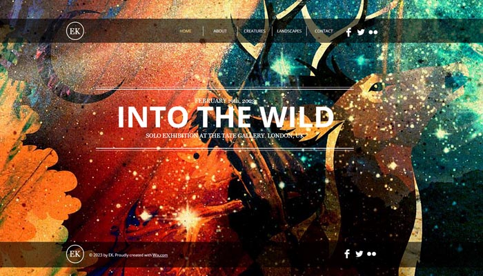 Portfolio Website Templates for Artists
