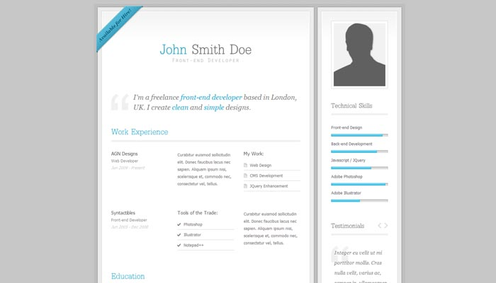 my resume clean cv resume template