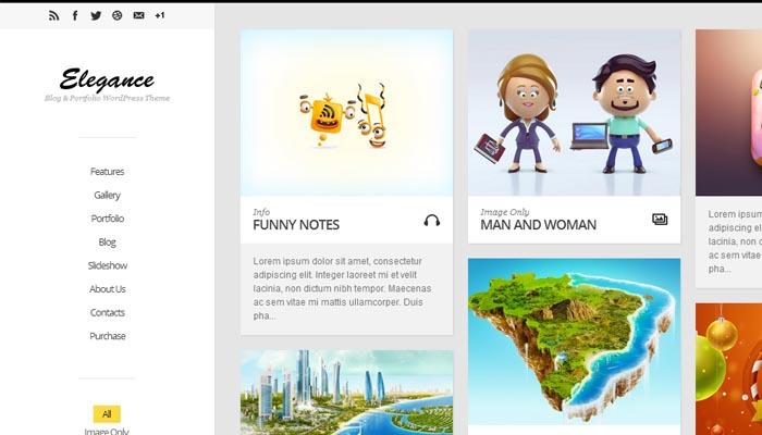 Elegance Responsive Portfolio WordPress Theme