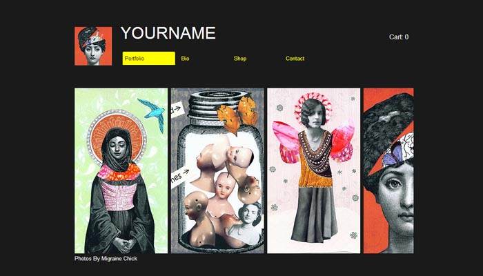 Poster Portfolio Website Templates for Artists