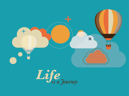 Life is a Journey Vector Graphic
