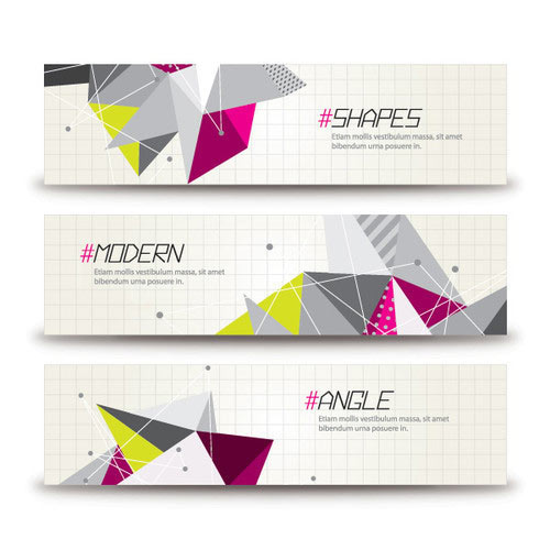 Triangular Banners Vector Graphic
