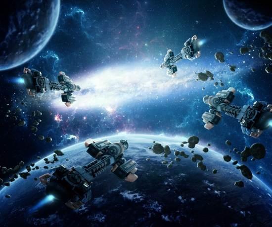 amazing space battle scene tutorial