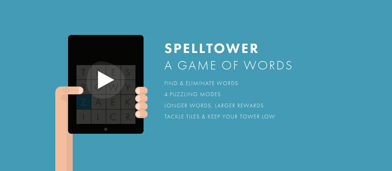 illustration flat screenshot web design SpellTower