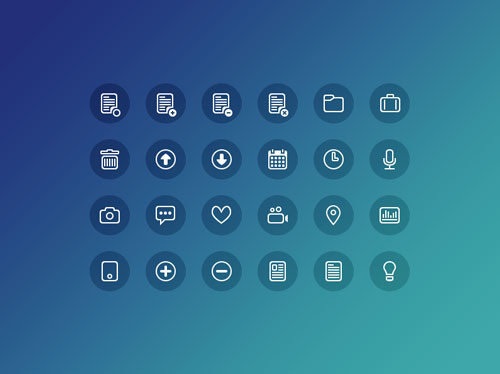 24 Free Icons (PSD)