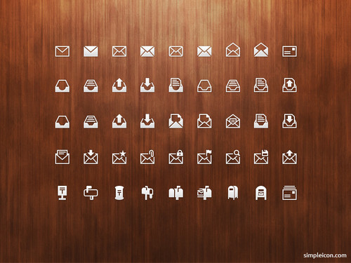 Mail PSD Icon Set