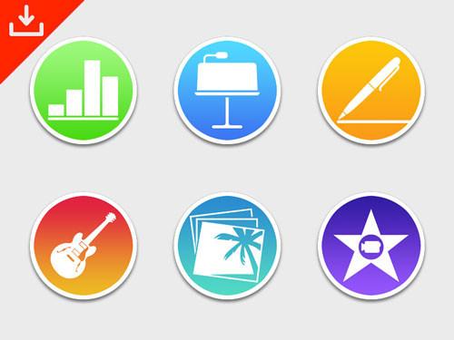 iWork & iLife OS X Icons
