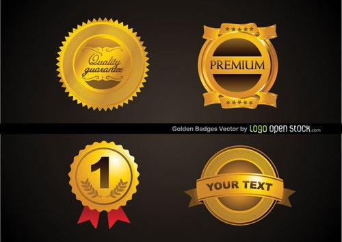 Free Golden Badges Vector
