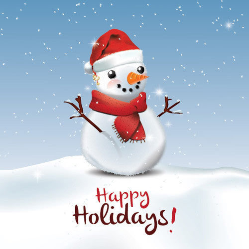 Happy Holidays Greeting Card Vector Graphic
