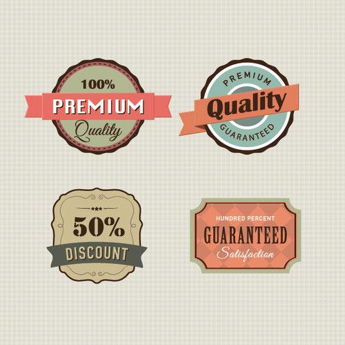 Vintage Labels Vector Graphic