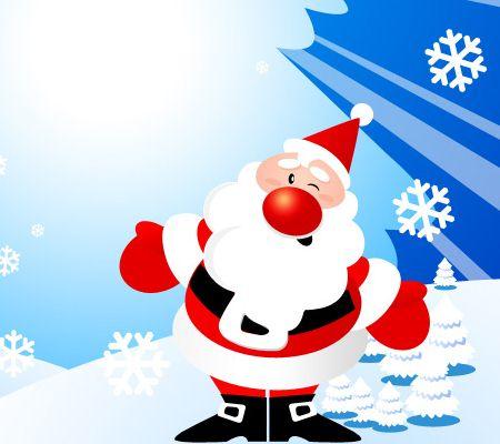 Dancing Santa Claus and Christmas Tree Christmas Photoshop Tutorials