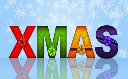 Wrapped Text Effect Christmas Photoshop Tutorials