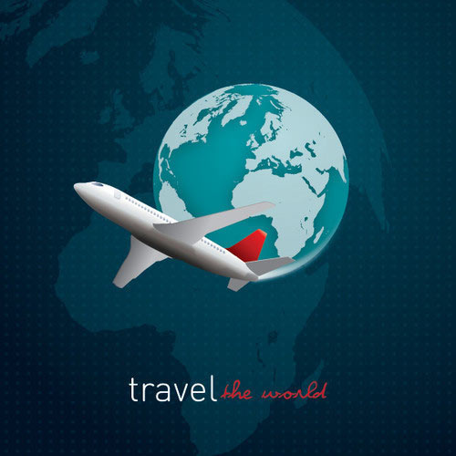 Travel The World Vector Graphic