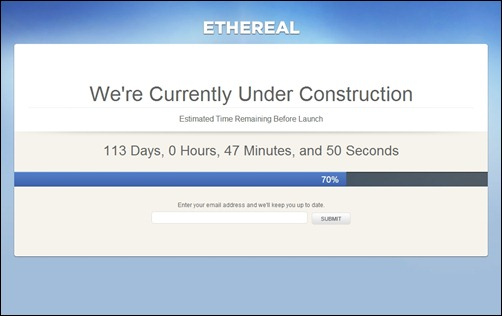 Ethereal under construction