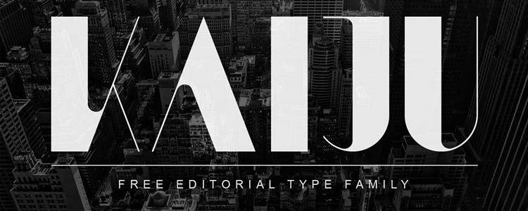 Kaijufont designed by Anthony James free typeface