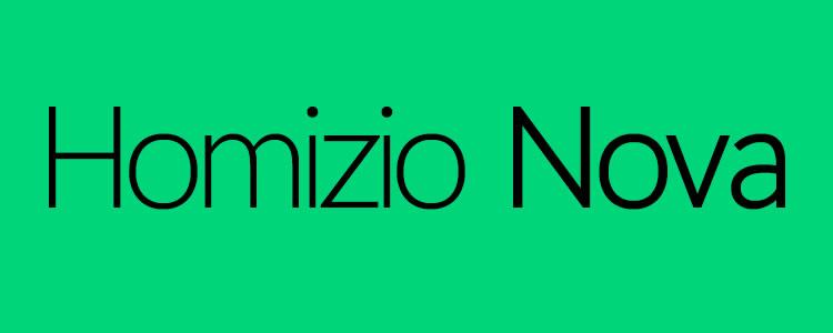 Homizio Novafont designed by Álvaro Thomáz free typeface