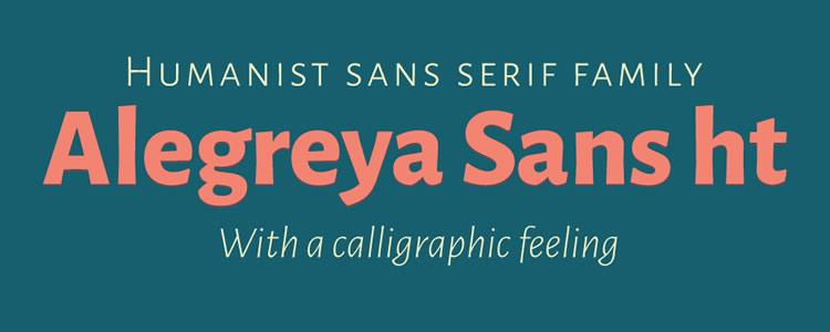 Alegreya Sansfont designed by Huerta Tipografica free typeface