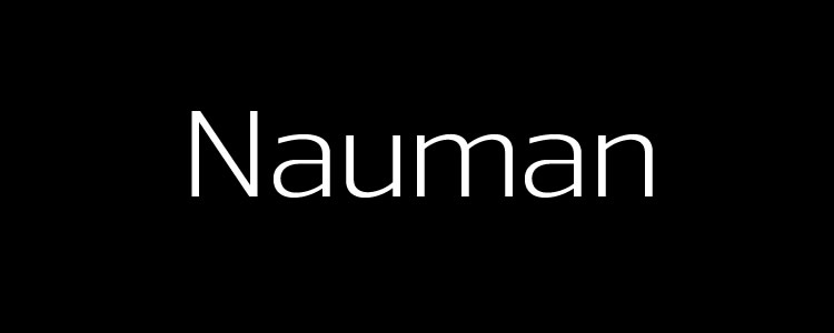 Nauman Regularfont designed by The Northern Block free typeface
