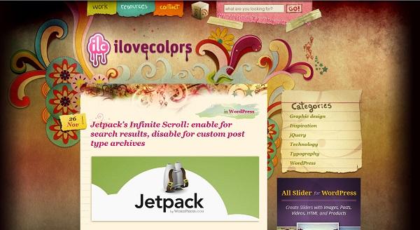 I love design artistic website