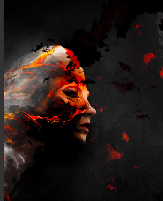 5 effect 550x677 Create Colourful Fiery Portrait in Photoshop