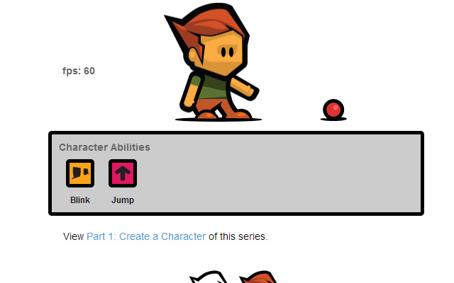 create game character html5 canvas javascript