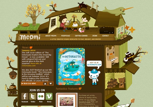 Meomi Artistic Websites