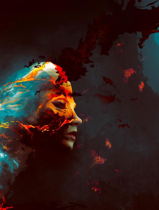 portrait 2 flatten 532x700 Create Colourful Fiery Portrait in Photoshop