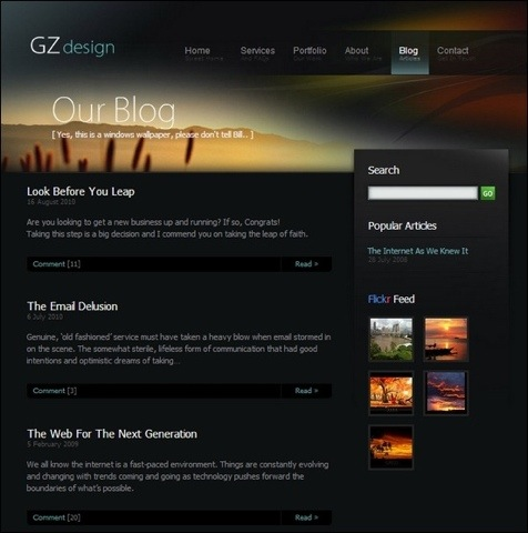 40+ Blog Web Design Examples