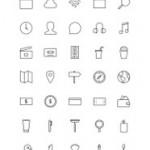 Freebie: Stripes & Co – A Line-Styled Icon Set (65 Icons)