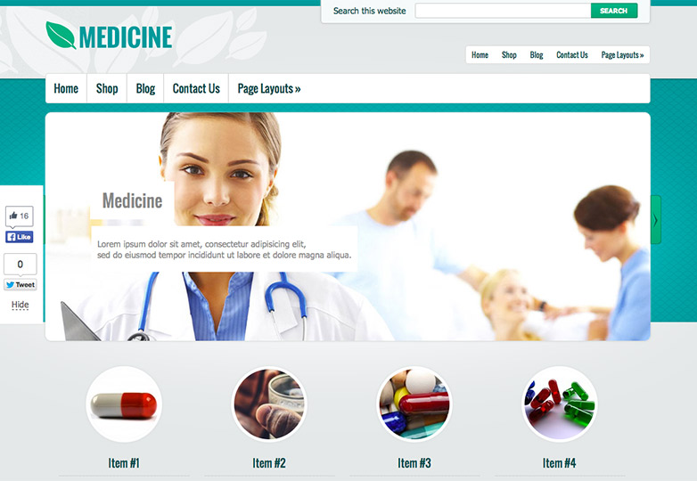 Medicine free wordpress theme
