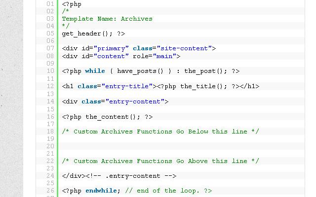 custom wordpress archives page tutorial