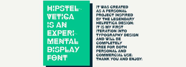 Hipstelvetica free typeface